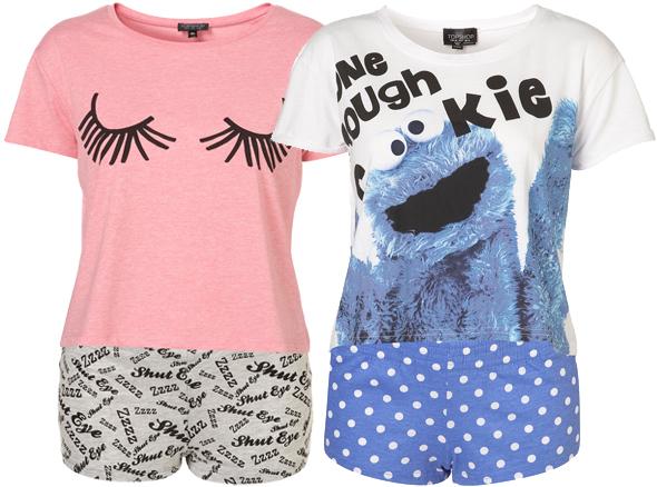 kolorowo, wzory, piżama, top shop, do spania, zabawne