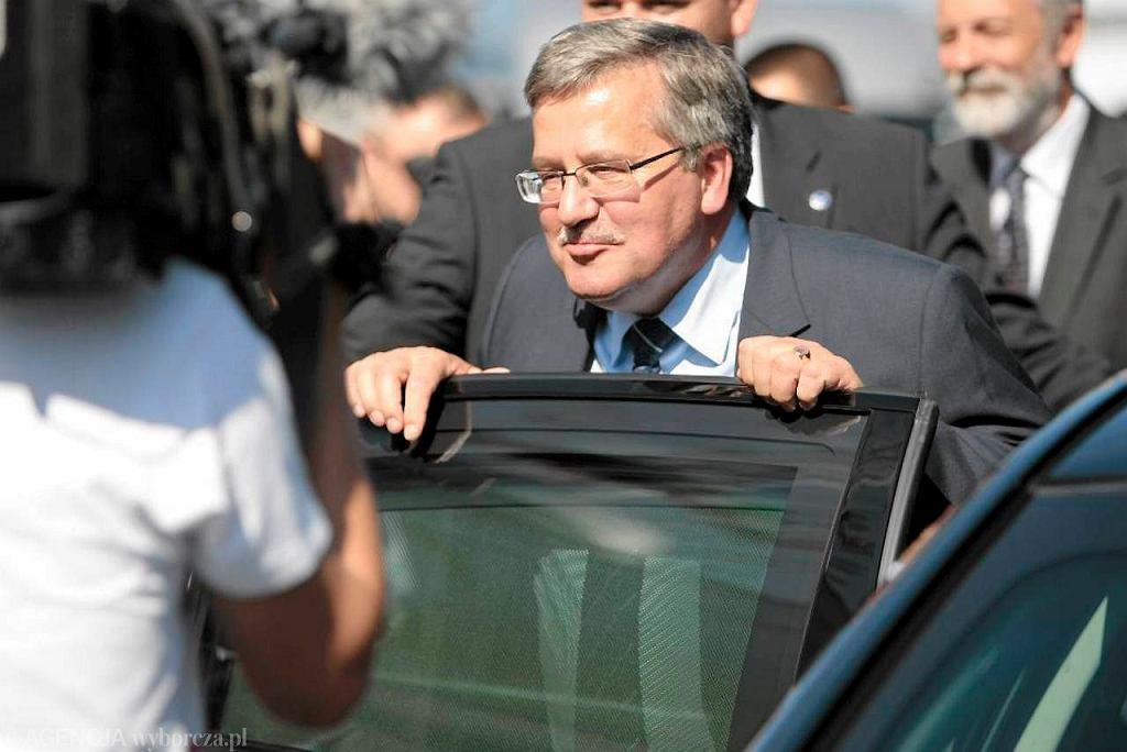 Prezydent Bronisław Komorowski na otwarciu targów Polagra w Poznaniu