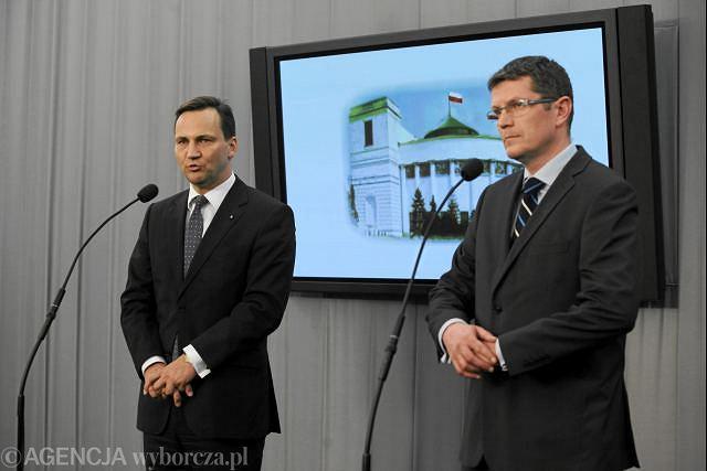Radosław Sikorski i Marcin Bosacki