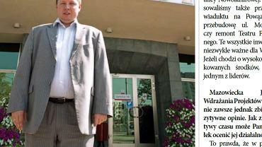 """Fragment wrześniowego wydania """"Bemowo News"""". Ze zdjęcia uśmiecha się wicemarszałek Mazowsza Marcin Kierwiński"""