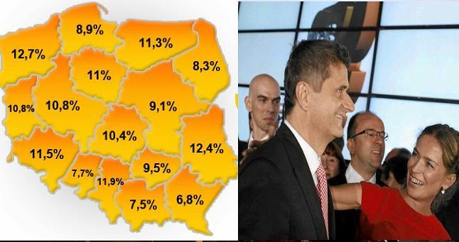 Janusz Palikot świętuje sukces wyborczy