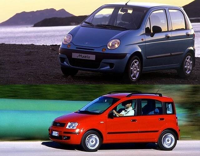 Daewoo Matiz vs Fiat Panda