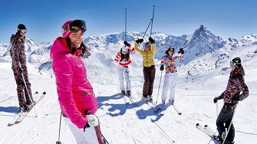 Narty w Alpach. Peclet - Francja