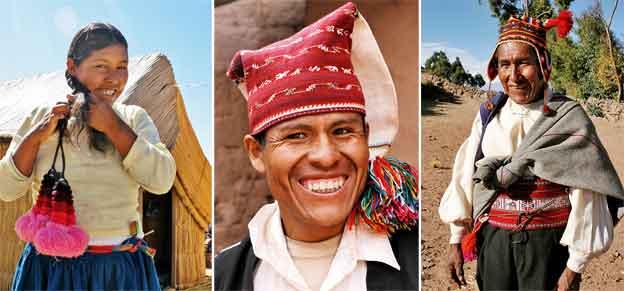 Peru. Mieszkańcy różnych wysp na jeziorze Titicaca. / fot. Anna Ostapkowicz