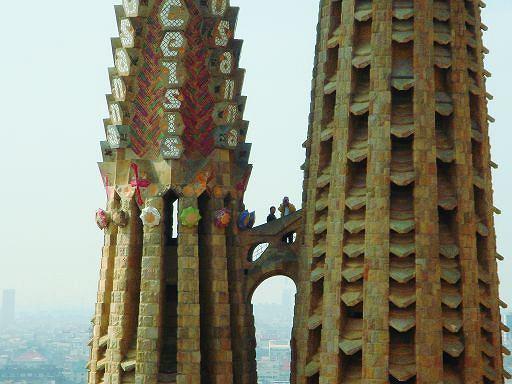 Sagrada Familia - Wieże Apostołów