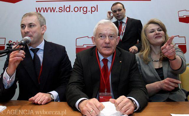 Obrady konwencji krajowej SLD. Tuż po wyborze Leszka Millera na przewodniczącego