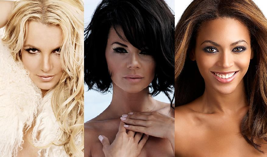 Britney Spears, Edyta Górniak, Beyonce.