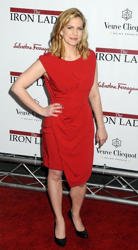 Celebrity guests arrive on the red carpet for the New York Premiere of 'The Iron Lady,' held at the Ziegfeld Theatre in NYC.  Pictured: Anna Chlumsky