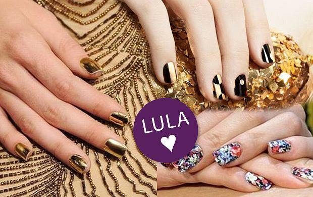 Sylwestrowa stylizacja paznokci - minx manicure