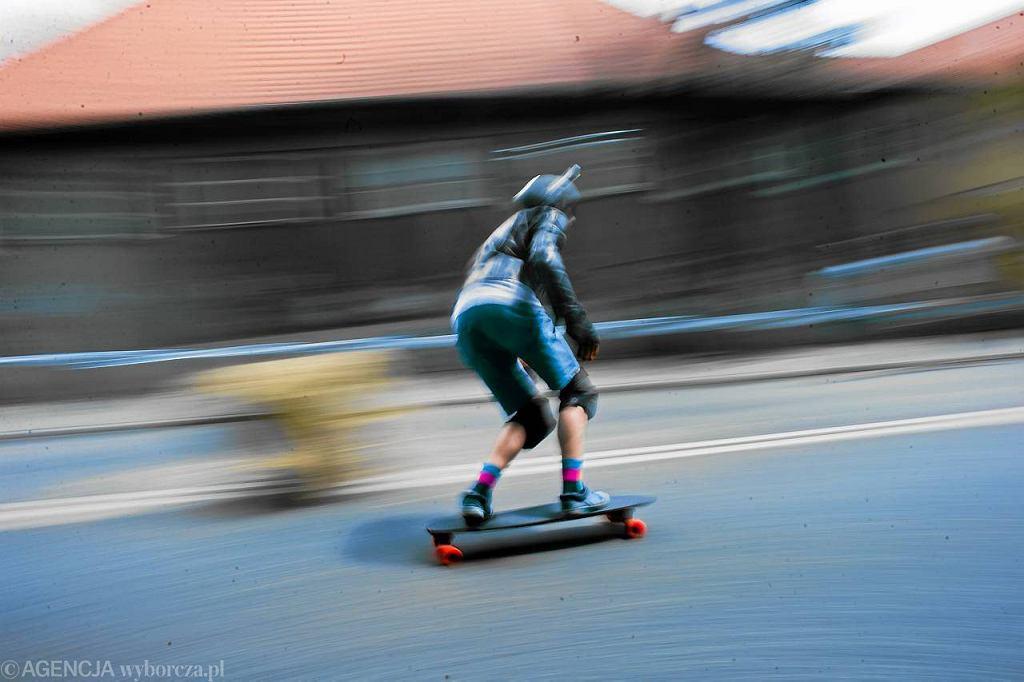 Zawody longboardowe w Warszawie w lipcu 2011 r.