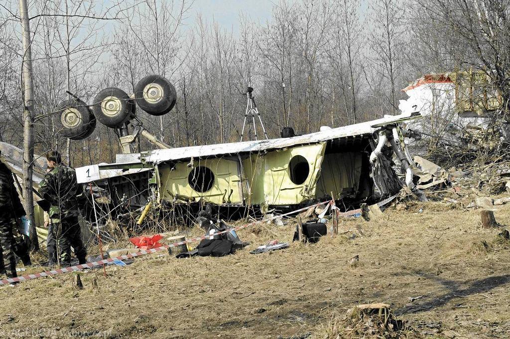 Wrak Tu-154M w Smoleńsku