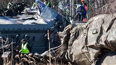 Widok miejsca katastrofy kolejowej na Śląsku