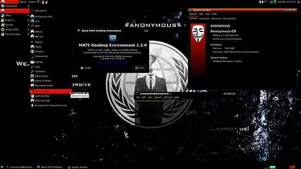 Anonymous-OS, fot. The Hacker News
