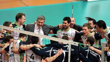 Tak cieszyli się zawodnicy i trener Politechniki po awansie do finału Pucharu Challenge