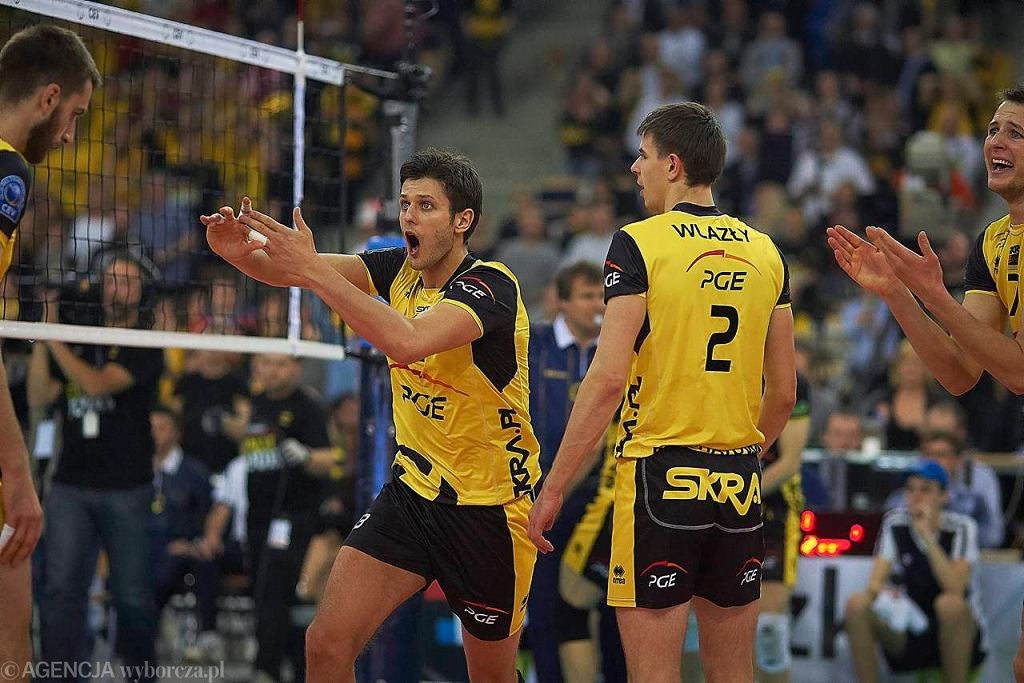 Michał Winiarski chwilę po ostatniej akcji meczu, która zabrała PGE Skrze marzenia o wygraniu Ligi Mistrzów.