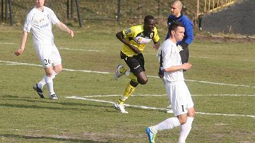 Idrissa Cisse w meczu Ruch - Zawisza