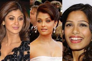 Shilpa Shetty, Freida Pinto, Aishwarya Rai Bachchan.