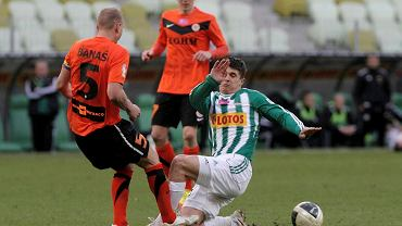 Piotr Grzelczak (biało-zielona koszulka)