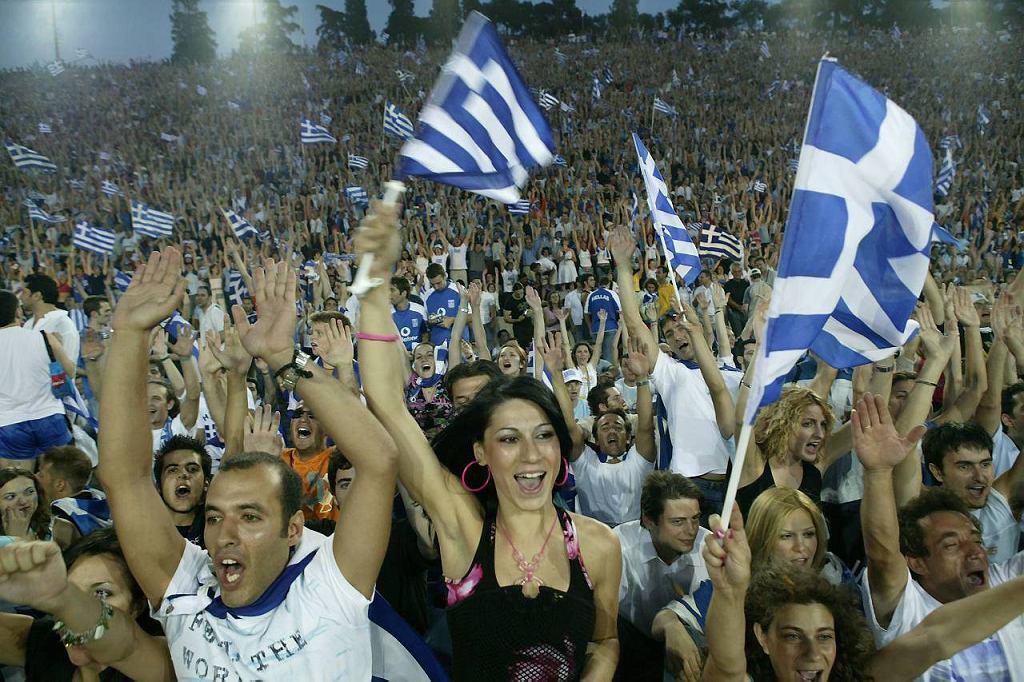 Kibice reprezentacji Grecji