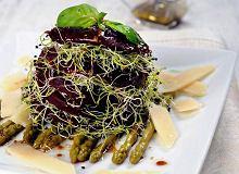 Sałatka z kiełkami pora i szparagami - ugotuj