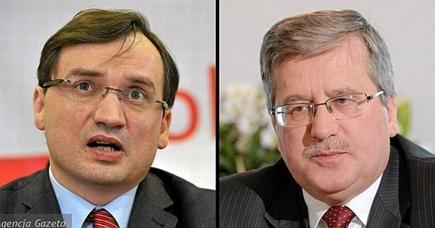 Zbigniew Ziobro i Bronisław Komorowski