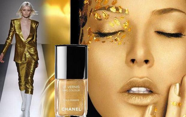 Kosmetyczne bliźniaki: złoty lakier Chanel