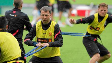 Jakub Wawrzyniak na treningu w Lienz