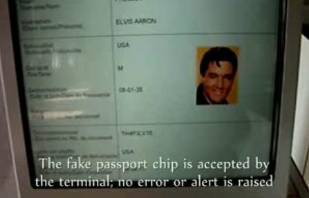 Zeskanowany paszport Elvisa