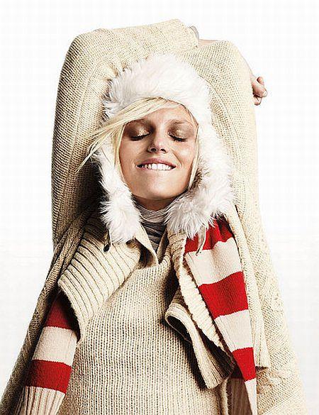 Anja Rubik w świątecznej kampanii GAP