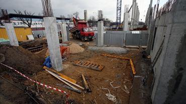 Budowa stadionu Legii - 10 marca 2009 r.