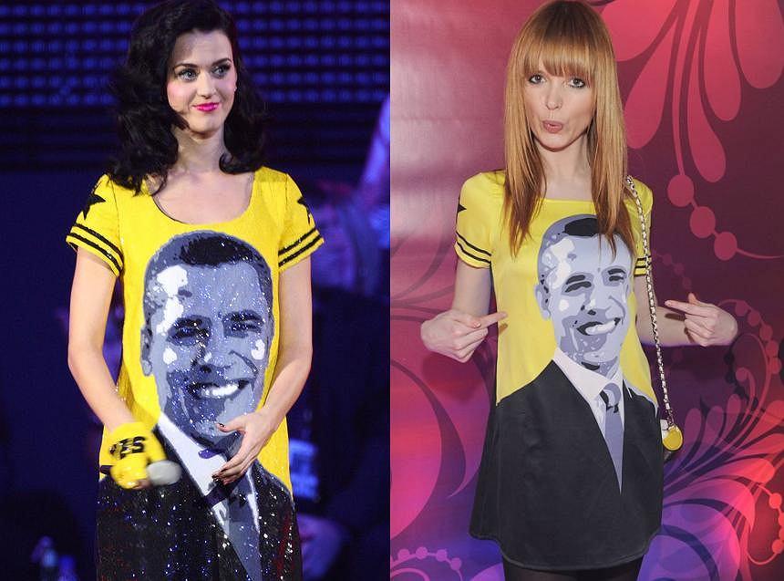 Ciekawe, czy Kasia Burzyńska wkładając sukienkę z wizerunkiem Baracka Obamy na wczorajszą imprezę magazynu