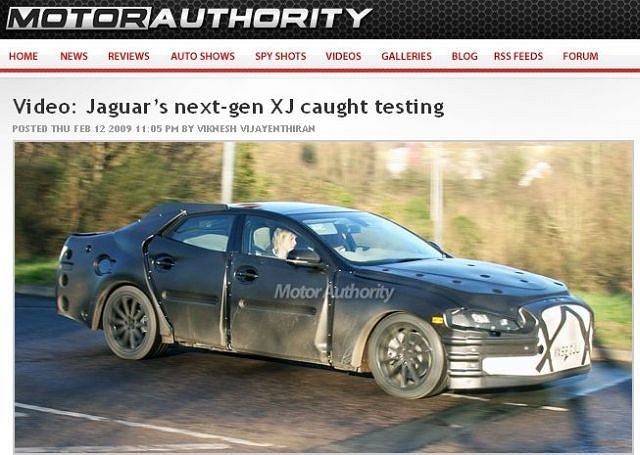 Zamaskowany Jaguar XJ