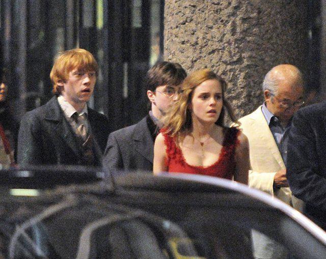 Rupert Grint, Daniel Radcliffe i Emma Watson
