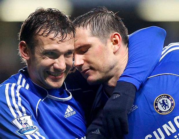 Andrij Szewczenko (L) i Frank Lampard