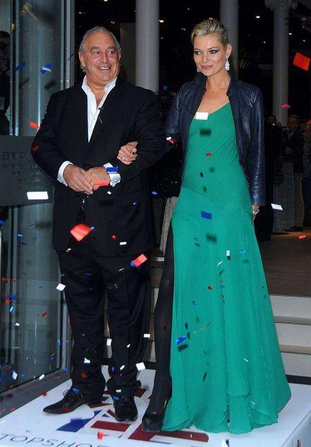 Sir Phillip Green i Kate Moss na otwarciu nowojorskiego Topshopu
