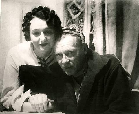 Michaił Bułhakow ze swą ostatnią żoną, Jeleną z domu Szyłowską. Zima 1935 roku
