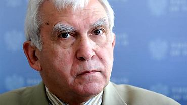 Adam Daniel Rotfeld, były szef polskiej dyplomacji