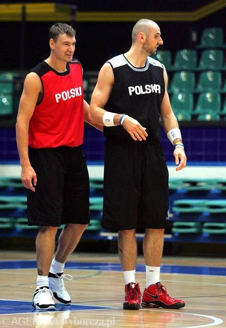 Adam Wójcik i Marcin Gortat
