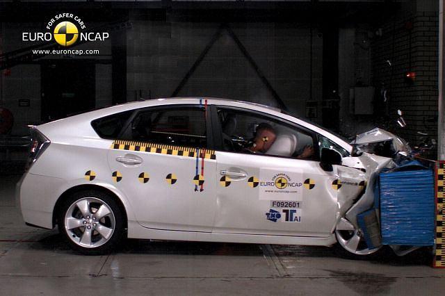 Toyota Prius w teście zderzeniowym