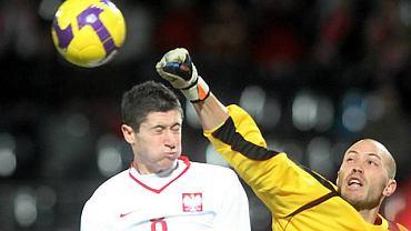 Robert Lewandowski w meczu Polska - Kanada