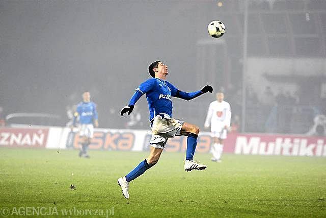 14. kolejka. Lech - Ruch 3:1. Robert Lewandowski
