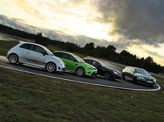 Abarth 500, Ford Focus RS, Lexus IS-F i Audi RS6 na Torze Poznań