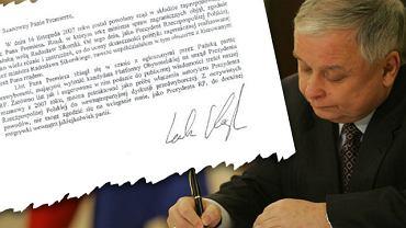 List Lecha Kaczyńskiego