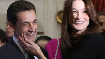 Nicolas Sarkozy i Carla Bruni-Sarkozy razem