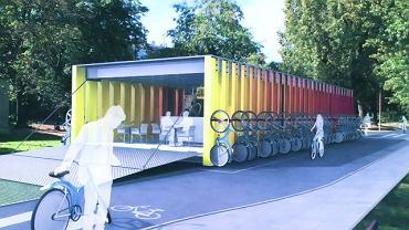 Baza na 58 rowerów z wypożyczalnią i minibarem - projekt Olafa Morelewskiego