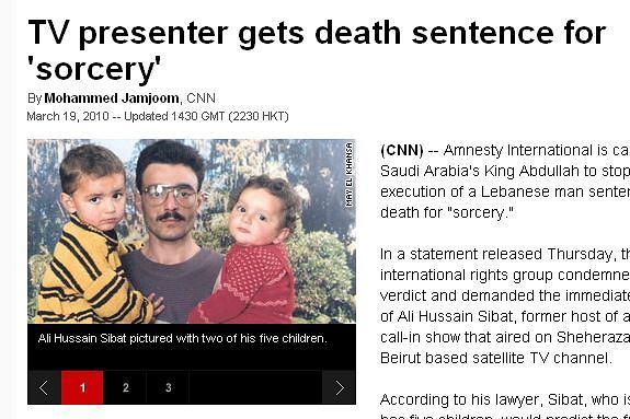 48-letni Ali Husajn Sibat prezenter libańskiej tv skazany na śmierć w Arabii Saudyjskiej