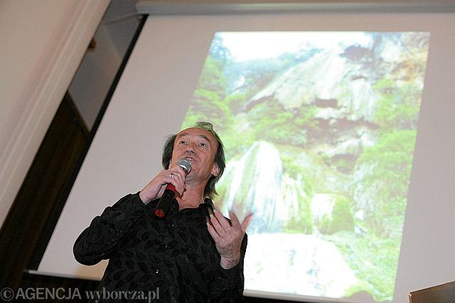 Patrick Blanc podczas konferencji