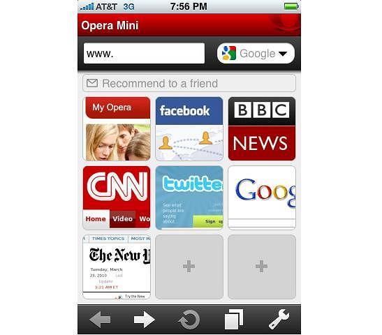 Opera Mini dla iPhone OS