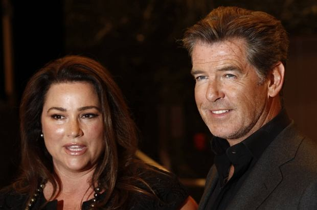 "Cast member Pierce Brosnan, right, and Keely Shaye Smith arrive at the premiere of ""The Greatest"" in Los Angeles on Thursday, March 25, 2010. (AP Photo/Matt Sayles)"