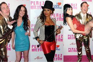 Jak co roku, Perez Hilton (najbardziej znany bloger na świecie)hucznie świętował swoje urodziny, na które zaprosił masę gwiazd i gwiazdek. Większość z nich słynie raczej z imprezowania, a nie swoich osiągnięć. Trzeba jednak zauważyć, że pojawiła się też sama Liza Minelli. Nie ma co, fajne urodziny!